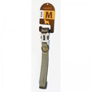 Walkit Tubular Multicolor Zgarda caine galbenalbastru (M) 2 x 35 - 50 cm