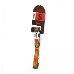 Walkit Tubular Multicolor Zgarda caine portocaliu (S) 1.6 x 25 - 35 cm