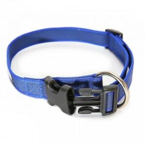Zgarda nylon reglabila, Albastru-Gri, 25 mm