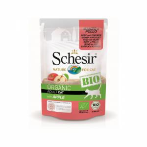 Schesir Bio For Cat, Vita, Pui si Mar, 85 g