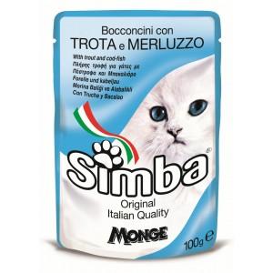 Simba Cat Plic Pastrav/Cod 100 G
