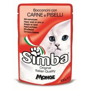 Simba Cat Plic Carne/Mazare 100 G