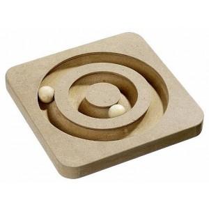 Jucarie Pisica Spirala Lemn 19X19 cm
