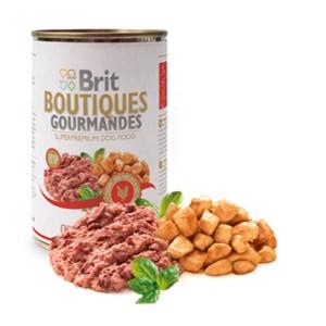 Brit Boutiques Gourmandes bucatele de Pui 400 gr pate
