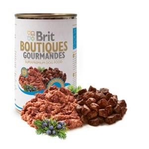 Brit Boutiques Gourmandes bucatele de Rata 400 gr pate