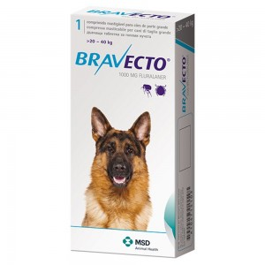 Bravecto (20-40 kg) 1 tbl x 1000 mg