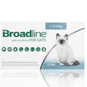 BROADLINE Spot-on Pisici < 2,5 kg  3pipete