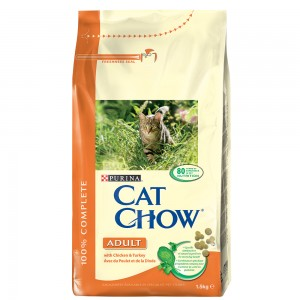 Cat Chow Adult Curcan,Pui