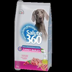 Salute Dog M/L Turkey/Barle 12kg