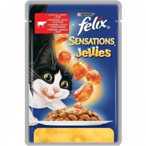 Felix Sensations Gelees, Vita si Rosii in Aspic, 100 g