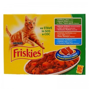 Friskies Pisica Multipack CARNE si PESTE in Sos 12x100 g