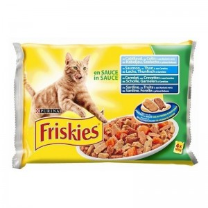 Friskies Pisica Multipack PESTE in SOS 4x100 g