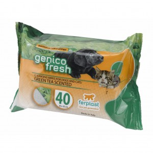SERVETELE UMEDE CAINI/PISICI GENICO FRESH GREEN TEA (x40)
