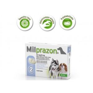 Milprazon Caine (<5 kg) x 2 tablete