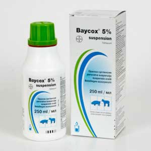 Baycox 5% Suspensie orala 250 ml
