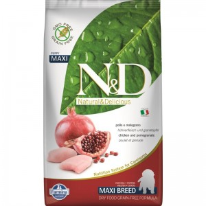 N&D Dog Grain free Chicken and Pomegranate Puppy Maxi, 2.5 kg