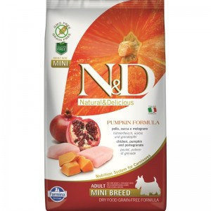 N&D Dog Grain free Pumpkin Chicken and Pomegranate Adult Medium Maxi, 2.5 kg