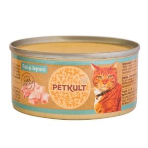 Petkult Cat Pui cu Iepure 80 g