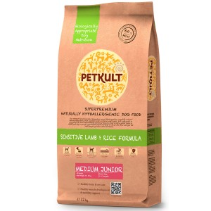 Petkult Medium Junior Sensitive Miel&Orez 12kg