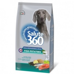 Salute Dog M/L Fish/Potato 12kg