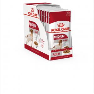 Royal Canin Medium Adult, 10 plicuri X 140 g