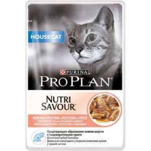 Pro Plan Housecat Nutrisavour Somon in sos 85 g