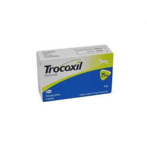 Trocoxil 75 mg 2 tablete masticabile