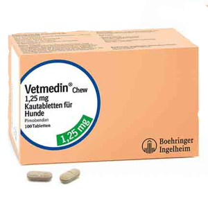 Vetmedin 1.25 mg 50 tablete masticabile
