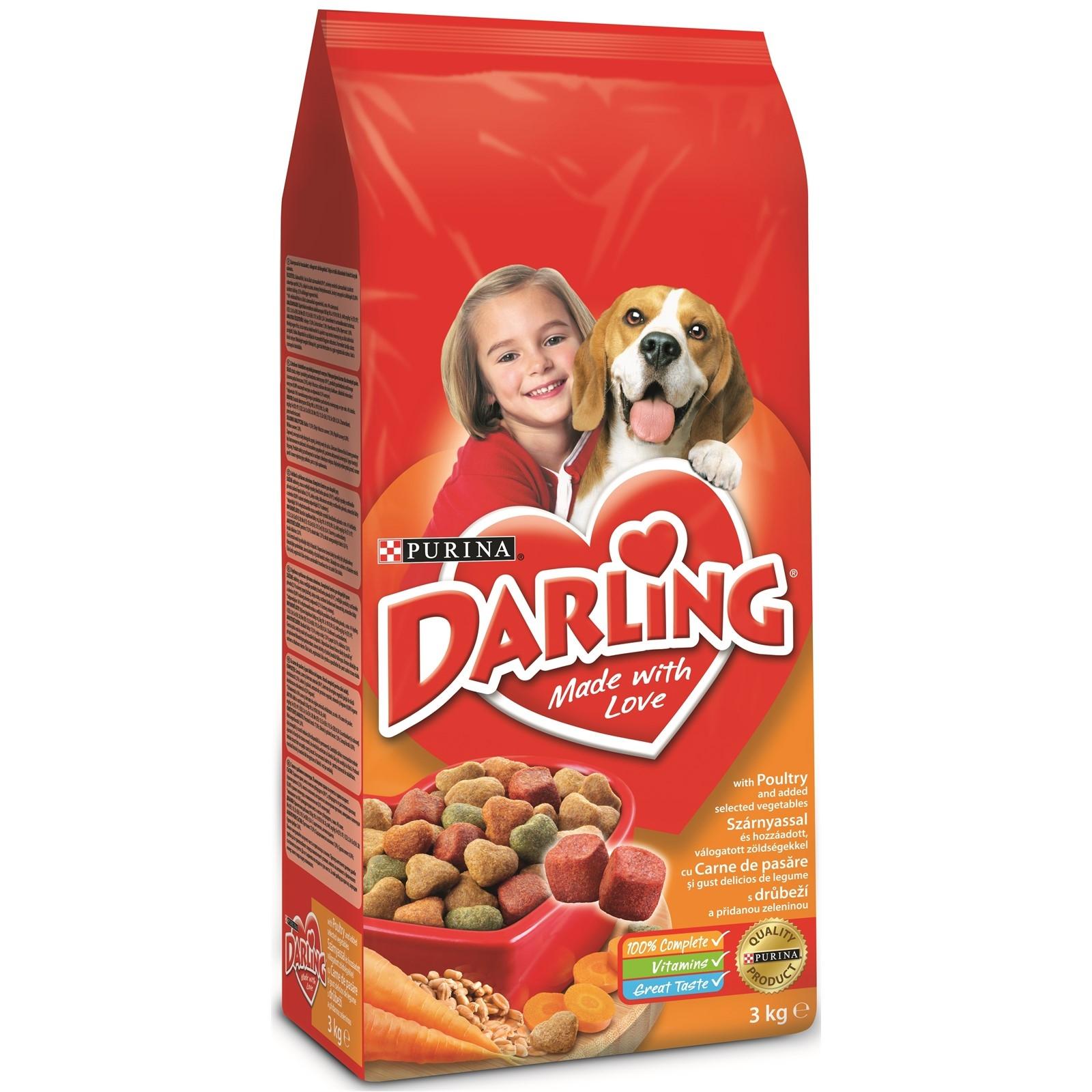Darling Dog Poultry & Vegetable, 15 kg imagine