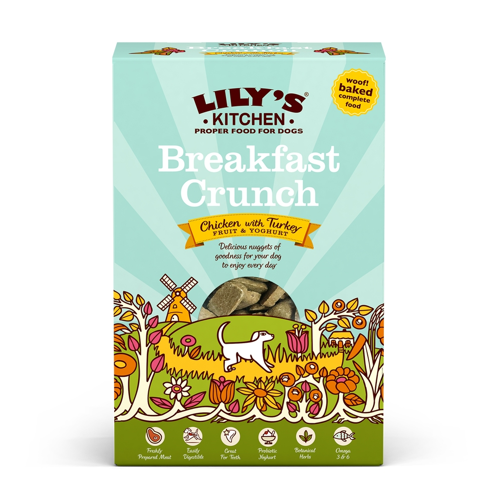 Mancare uscata caini, Lily's Kitchen, Breakfast Crunch, 800 g imagine