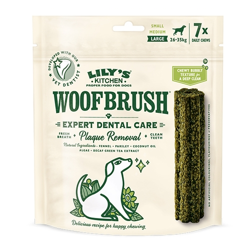 Gustari dentare caini, Lily's Kitchen, Woofbrush L Natural Dental Dog Chew, 329 g imagine