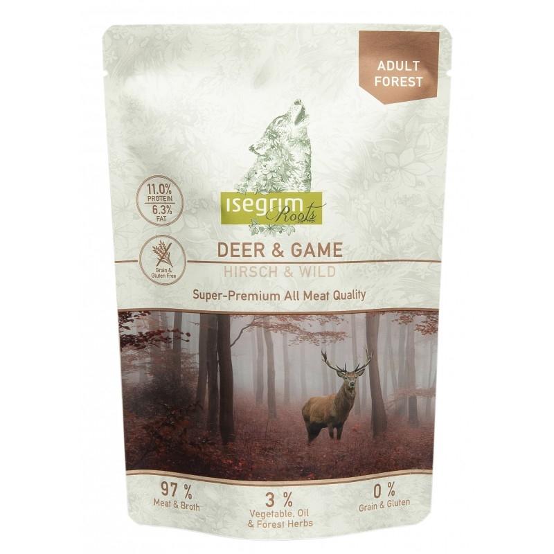 Hrana umeda, Pouch Isegrim Dog Adult Deer & Game, 410 g imagine