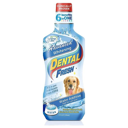 Dental Fresh Advanced Whitening Pentru Caini, Synergy Labs, 237 ml imagine