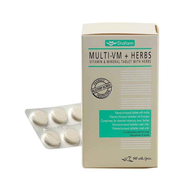 Diafarm Vitamine Minerale cu Plante, 90 tablete imagine