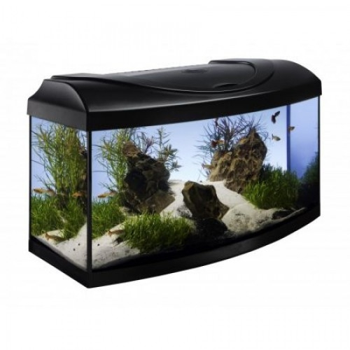 Acvariu, Diversa, negru 13W LED, 60x30x30cm, 54 L imagine
