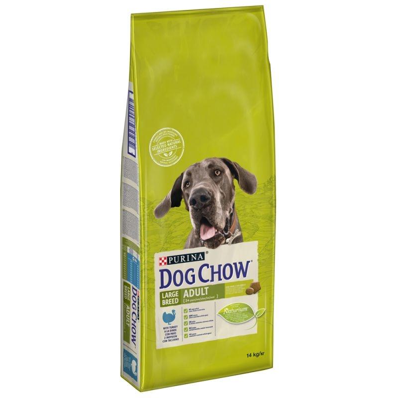 Dog Chow Adult Large Breed Turkey, 14 kg imagine