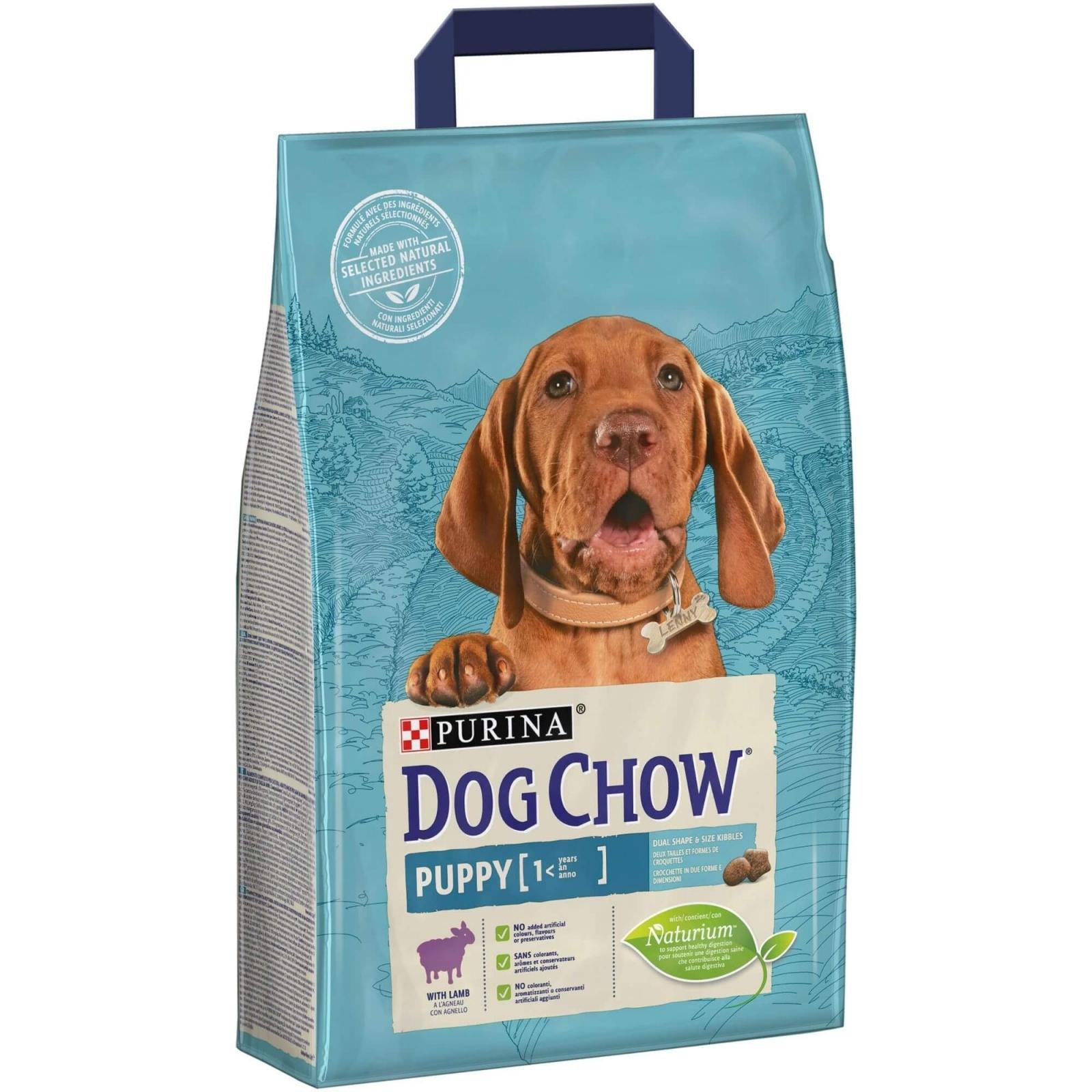 Dog Chow Puppy Lamb, 2.5 kg imagine