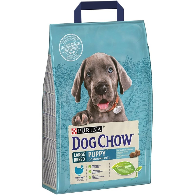 Dog Chow Puppy Large Breed Turkey, 2.5 kg imagine