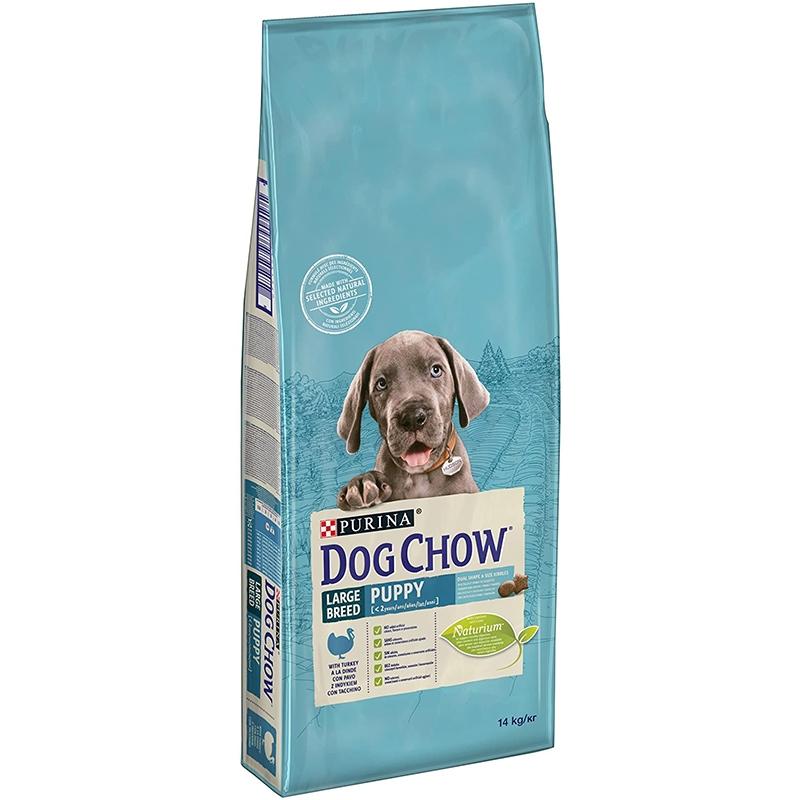 Dog Chow Puppy Large Breed Turkey, 14 kg imagine