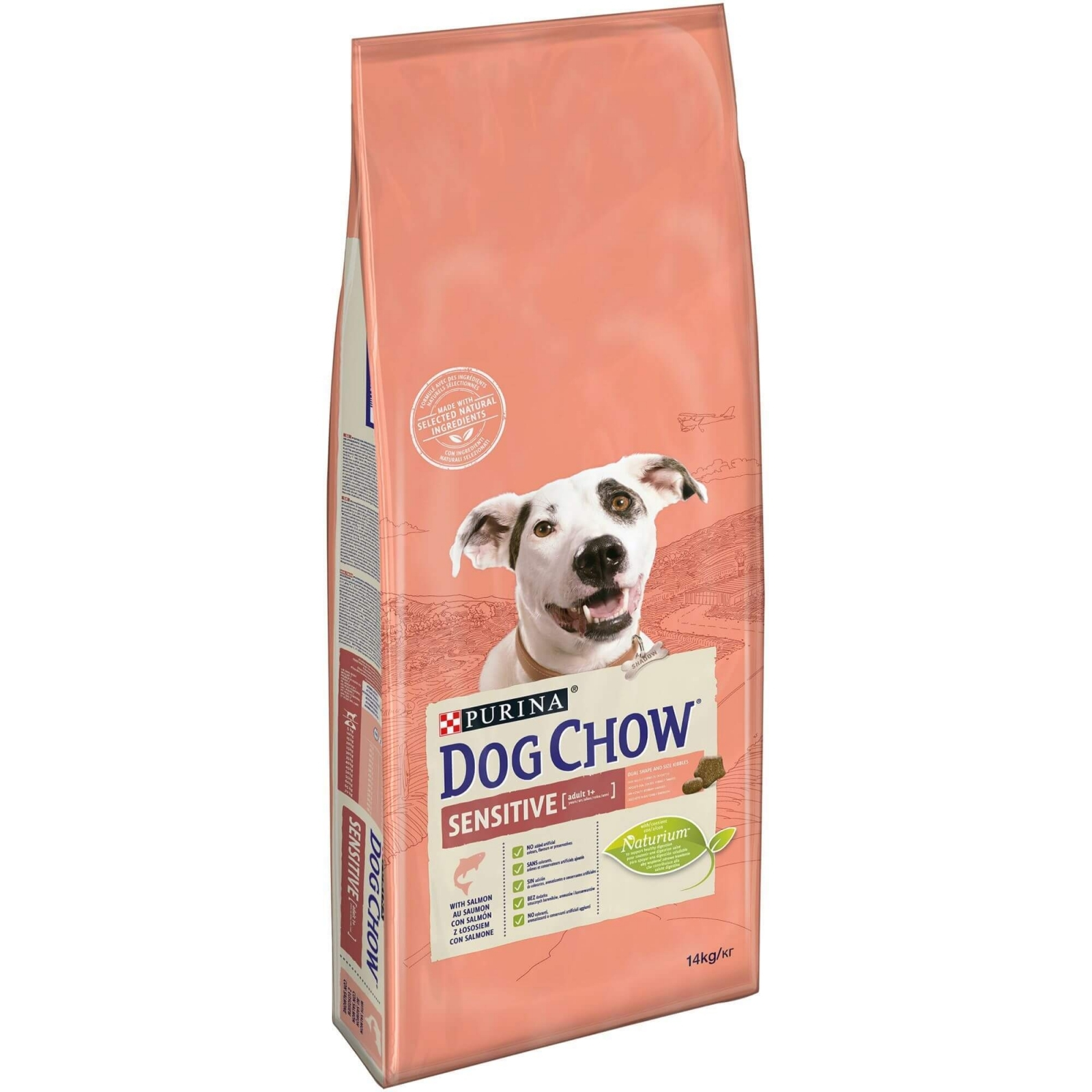 Dog Chow Sensitive Salmon, 14 kg imagine