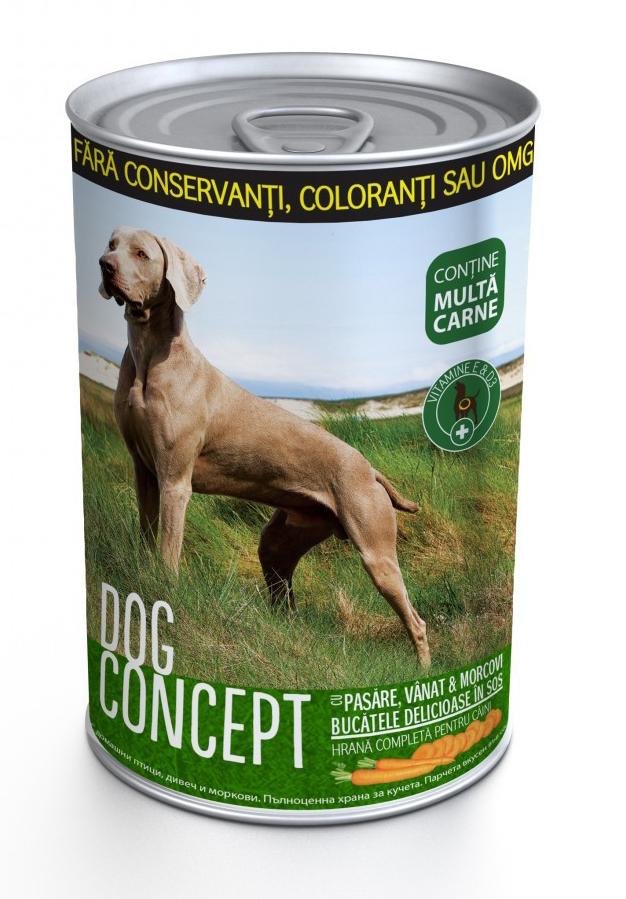 DOG CONCEPT CONS PASARE/VANAT/MORCOVI 415 G imagine
