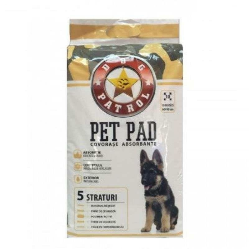 Dog Patrol Pet Pad Benzi Adezive 60 x 60 cm, 10 buc imagine