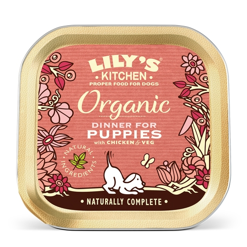 Mancare umeda caini, Lily's Kitchen, Organic Dinner for Puppies, 150 g imagine
