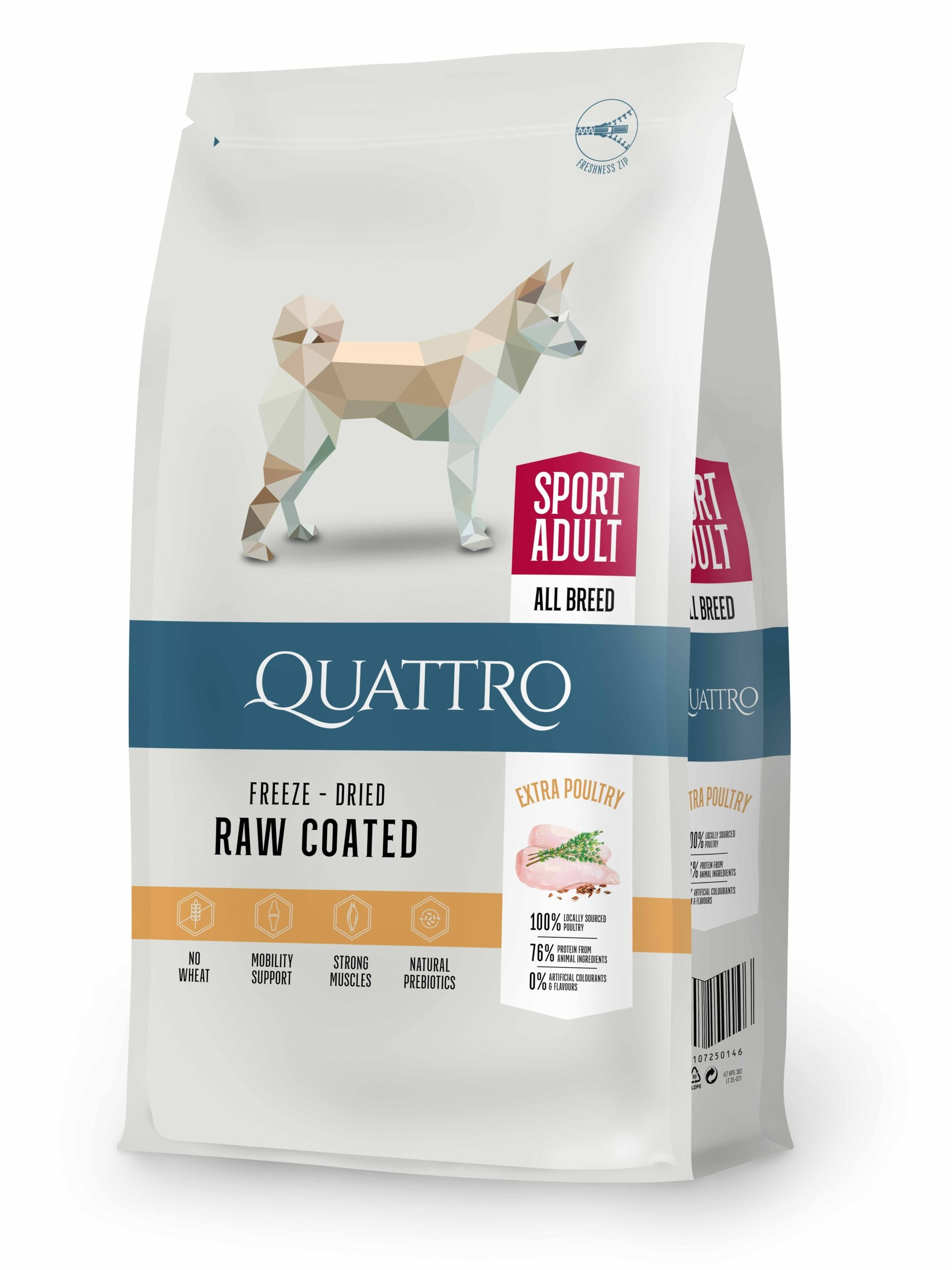 Hrana uscata, QUATTRO Premium All Breed ACTIVE Adult, 12 kg imagine