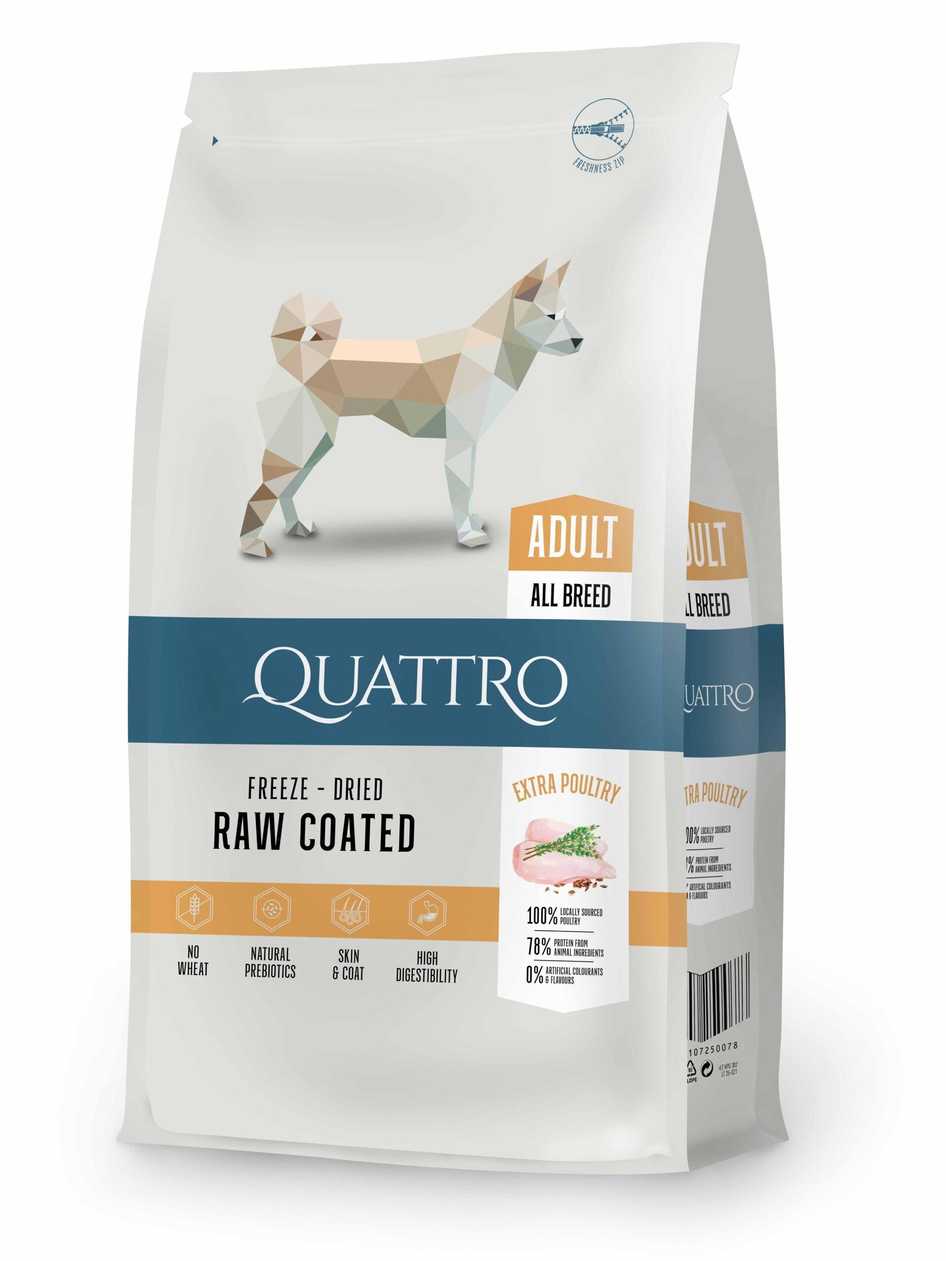 Hrana uscata, QUATTRO Premium All Breed Adult, carne de pui, 12 kg imagine