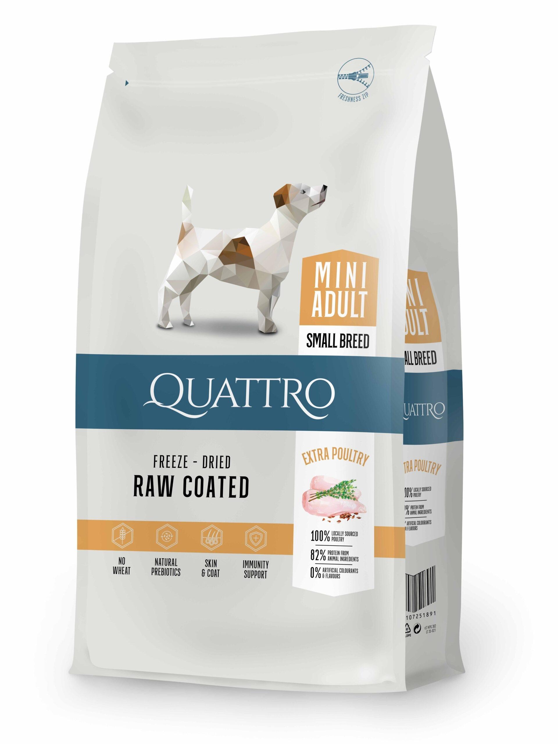 Hrana uscata, QUATTRO Premium All Breed MINI Adult, 7 kg imagine