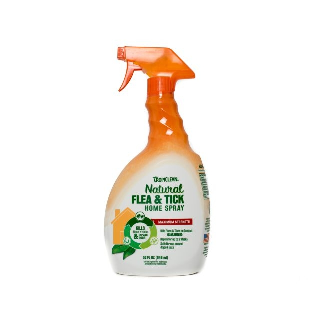 Spray natural antiparazitar, Tropiclean Flea & Tick for Home, 946ml imagine