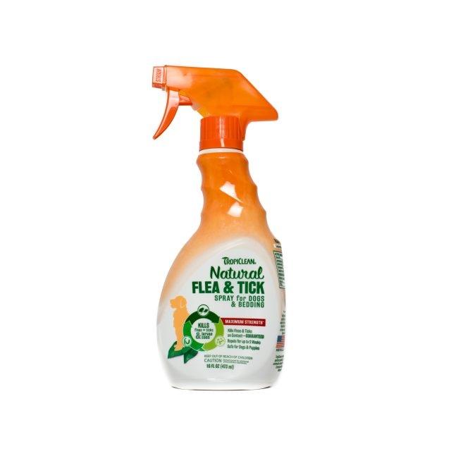 Spray natural antiparazitar, Tropiclean Flea & Tick, 473ml imagine