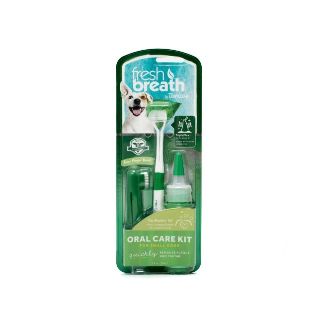 Kit Igiena Orala Caini Talie Mica Tropiclean Fresh Breath imagine