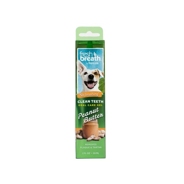 Tropiclean Fresh Breath Oral Care Gel Peanut Butter, 59 ml imagine